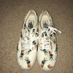 White with pineapple vans